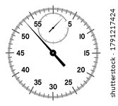 mechanical stopwatch dial with...   Shutterstock .eps vector #1791217424