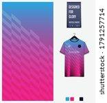 blue pink gradient geometry... | Shutterstock .eps vector #1791257714