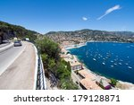 Road along the Cote d'Azur in Southern France  - stock photo