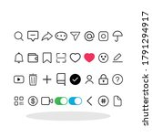 social media related icon set...