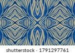 Blue Tiger Skin Pattern. Purpl...
