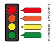 Four Colored Corona Traffic...