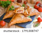 Triangles Of Puff Pastry With...