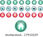 glossy web icons | Shutterstock .eps vector #17913229