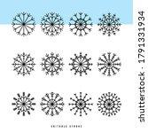 Snowflake Thin Line Icons Set....