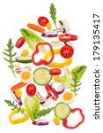 falling salad  falling... | Shutterstock . vector #179135417