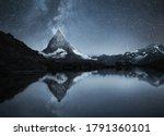Swiss Landscape. Matterhorn And ...