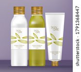 vector toiletries set with...   Shutterstock .eps vector #1791368447