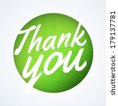 round thank you speech bubble | Shutterstock .eps vector #179137781