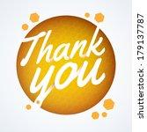 round thank you speech bubble | Shutterstock .eps vector #179137787