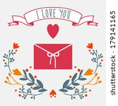 vector card   i love you | Shutterstock .eps vector #179141165