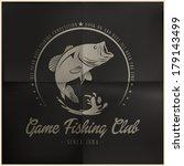 game fishing club badge   Shutterstock .eps vector #179143499