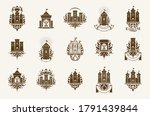 castles logos big vector set ... | Shutterstock .eps vector #1791439844
