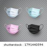mask set isolated on...   Shutterstock .eps vector #1791440594