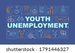 youth unemployment word...