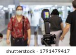 thermal scanner to check the... | Shutterstock . vector #1791479417