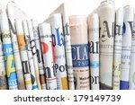 row of newspapers | Shutterstock . vector #179149739