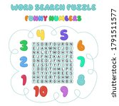 word search puzzle. crossword... | Shutterstock .eps vector #1791511577
