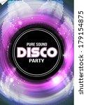 disco party flyer background... | Shutterstock .eps vector #179154875
