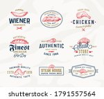 steak house or meat store... | Shutterstock .eps vector #1791557564