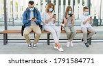 Social Distance At Bus Stop...