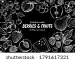 berries and fruits drawing... | Shutterstock .eps vector #1791617321