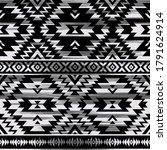 black and white tribal vector...   Shutterstock .eps vector #1791624914