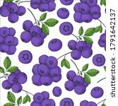 seamless pattern with... | Shutterstock .eps vector #1791642137