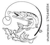 Pike Fishing Illustration. Fish ...