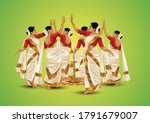 happy onam greetings... | Shutterstock .eps vector #1791679007