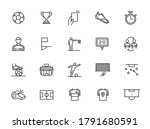 soccer line icon set. included... | Shutterstock .eps vector #1791680591