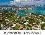 Aerial photo Miami Bal Harbour luxury neighborhood