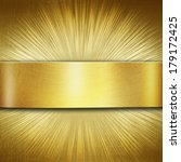 Abstract Gold Metal On A...