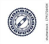 blue bandage plaster icon... | Shutterstock .eps vector #1791726434