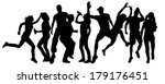 vector silhouette of  people... | Shutterstock .eps vector #179176451