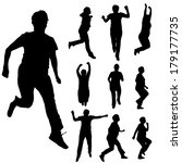 vector silhouette of  women who ... | Shutterstock .eps vector #179177735
