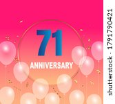 71 year anniversary celebration ... | Shutterstock .eps vector #1791790421