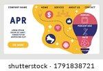 vector website design template .... | Shutterstock .eps vector #1791838721