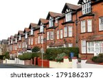 row of old terraced houses on a ... | Shutterstock . vector #179186237
