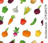 vegetable pattern | Shutterstock .eps vector #179189279