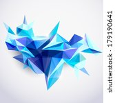 background of 3d geometric... | Shutterstock .eps vector #179190641