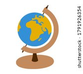 globe on a stand. view of... | Shutterstock .eps vector #1791926354