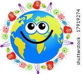 bacteria globe | Shutterstock . vector #17919274