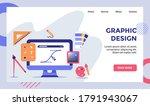 graphic design pen drawing line ... | Shutterstock .eps vector #1791943067