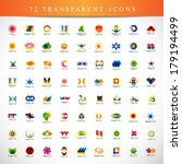 unusual icons set   isolated on ... | Shutterstock .eps vector #179194499