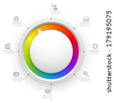 colorful circle website...