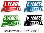 set of warranty grunge rubber... | Shutterstock .eps vector #179199011