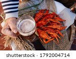Boiled Crayfish And Golden Beer ...