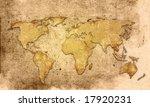 world map vintage artwork | Shutterstock . vector #17920231