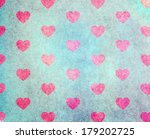 colorful grunge heart pattern | Shutterstock . vector #179202725